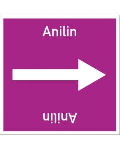 Rohrleitungskennzeichnung viereckig Anilin | Aufkleber · Magnetschild · Aluminiumschild