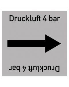 Rohrleitungskennzeichnung viereckig Druckluft 4 bar | Aufkleber · Magnetschild · Aluminiumschild
