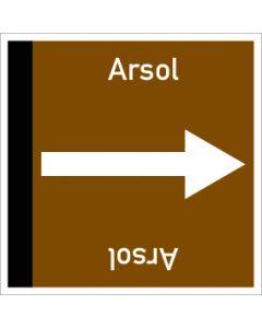Rohrleitungskennzeichnung viereckig Arsol | Aufkleber · Magnetschild · Aluminiumschild