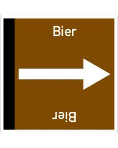 Rohrleitungskennzeichnung viereckig Bier | Aufkleber · Magnetschild · Aluminiumschild