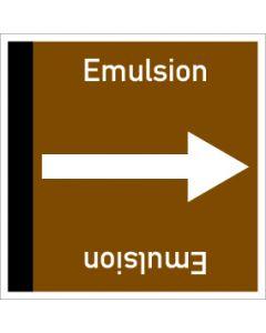 Rohrleitungskennzeichnung viereckig Emulsion | Aufkleber · Magnetschild · Aluminiumschild