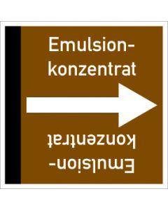Rohrleitungskennzeichnung viereckig Emulsionkonzentrat | Aufkleber · Magnetschild · Aluminiumschild