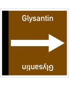 Rohrleitungskennzeichnung viereckig Glysantin | Aufkleber · Magnetschild · Aluminiumschild