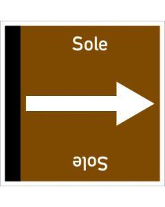 Rohrleitungskennzeichnung viereckig Sole | Aufkleber · Magnetschild · Aluminiumschild