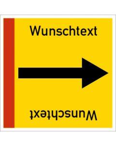 Rohrleitungskennzeichnung viereckig Wunschtext | Aufkleber · Magnetschild · Aluminiumschild
