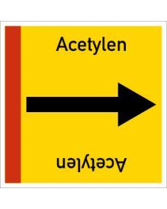 Rohrleitungskennzeichnung viereckig Acetylen | Aufkleber · Magnetschild · Aluminiumschild