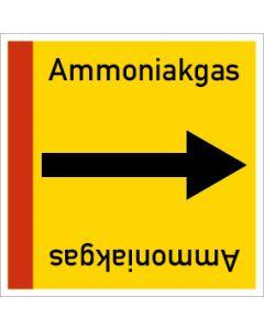 Rohrleitungskennzeichnung viereckig Ammoniakgas | Aufkleber · Magnetschild · Aluminiumschild