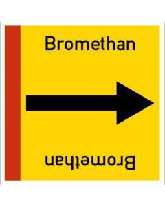 Rohrleitungskennzeichnung viereckig Bromethan | Aufkleber · Magnetschild · Aluminiumschild