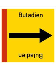 Rohrleitungskennzeichnung viereckig Butadien | Aufkleber · Magnetschild · Aluminiumschild