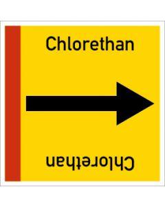 Rohrleitungskennzeichnung viereckig Chlorethan | Aufkleber · Magnetschild · Aluminiumschild