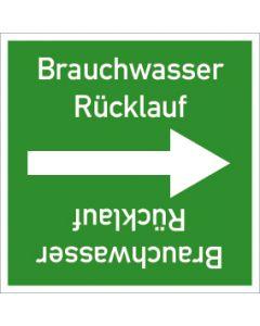 Rohrleitungskennzeichnung viereckig Brauchwasser Rückl. | Aufkleber · Magnetschild · Aluminiumschild