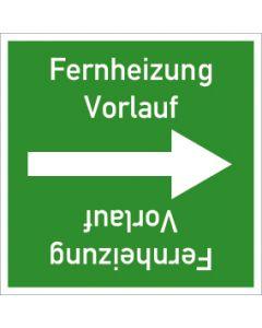 Rohrleitungskennzeichnung viereckig Fernheizung Vorlauf | Aufkleber · Magnetschild · Aluminiumschild