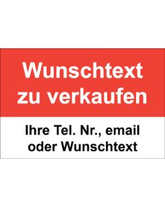 Immobilienschild Wunschtext zu verkaufen · Aufkleber | Schild | Plane