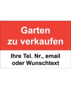 Immobilienschild Garten zu verkaufen · Aufkleber | Schild | Plane