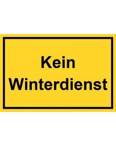Schild Kein Winterdienst | gelb