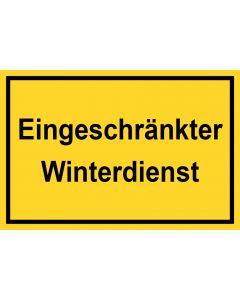 Schild Eingeschränkter Winterdienst | gelb