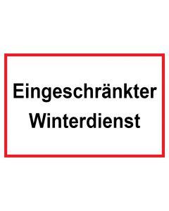 Schild Eingeschränkter Winterdienst | weiß · rot