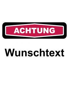Schild Winterdienst Wunschtext | ACHTUNG