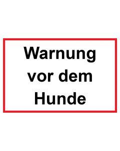 Schild | Aufkleber | Magentschild · Warnung vor dem Hunde | weiß · rot