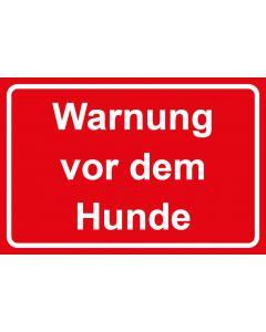 Schild | Aufkleber | Magentschild · Warnung vor dem Hunde | rot