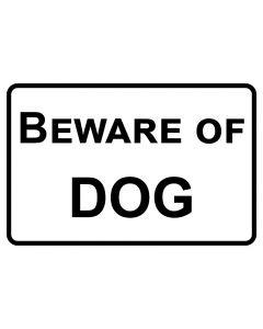 Schild   Aufkleber   Magentschild · Beware of Dog   weiß