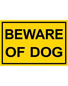 Schild   Aufkleber   Magentschild · Beware of Dog   gelb