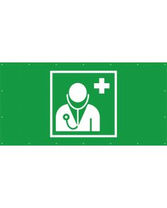 Rettungszeichen PVC Plane Arzt, Ärztliche Hilfe