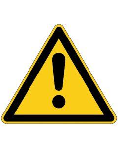 Warnzeichen · Aufkleber | Schild | Magnetschild | Fußbodenaufkleber · Allgemeines Warnzeichen
