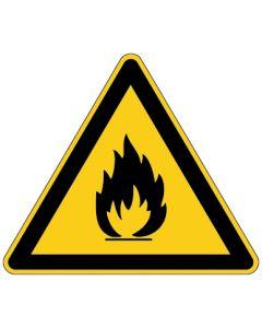 Warnzeichen · Aufkleber | Schild | Magnetschild | Fußbodenaufkleber · Warnung vor feuergefährlichen Stoffen