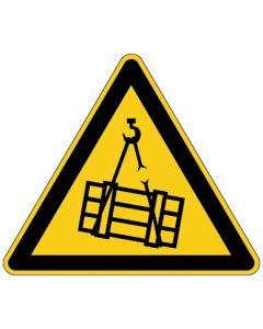 Warnzeichen · Aufkleber | Schild | Magnetschild | Fußbodenaufkleber · Warnung vor schwebender Last
