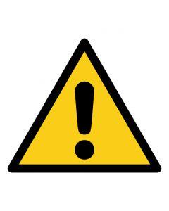 Warnzeichen Allgemeines Warnzeichen · ISO 7010 W001 | Aufkleber · Aluminiumschild · Magnetschild