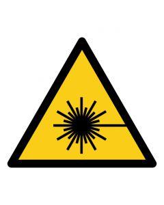 Warnzeichen Warnung vor Laserstrahl · ISO 7010 W004