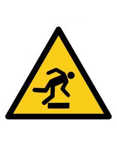 Warnzeichen Warnung vor Hindernissen am Boden · ISO 7010 W007