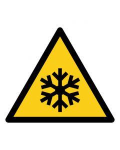 Warnzeichen Warnung vor niedriger Temperatur · Kälte · ISO 7010 W010  | Aufkleber · Aluminiumschild · Magnetschild
