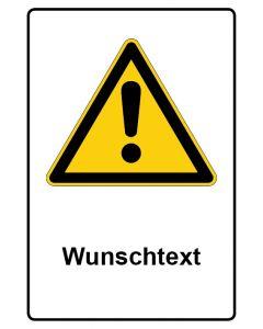Warnzeichen mit Text · Aufkleber | Schild | Magnetschild · Allgemeines Warnzeichen