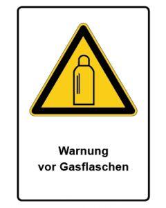 Warnzeichen mit Text · Aufkleber | Schild | Magnetschild · Warnung vor Gasflaschen