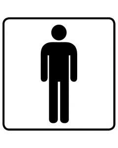 WC Toiletten Kennzeichnung | Herren · weiß