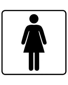 WC Toiletten Kennzeichnung | Damen · weiß