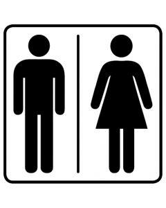 WC Toiletten Kennzeichnung | Herren · Damen · weiß