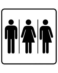 WC Toiletten Kennzeichnung | Herren · Damen · Transgender · weiß