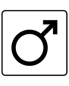 WC Toiletten Kennzeichnung | Symbol Mann · weiß