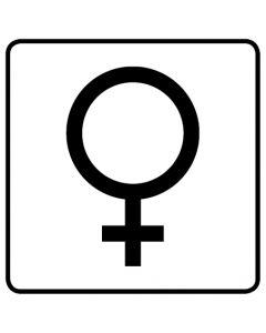 WC Toiletten Kennzeichnung | Symbol Frau · weiß