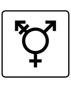 WC Toiletten Kennzeichnung | Symbol Transgender · weiß