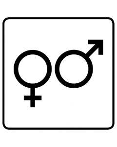 WC Toiletten Kennzeichnung | Symbol Herren · Damen · weiß