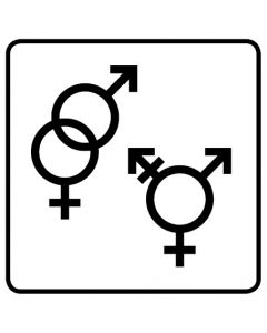 WC Toiletten Kennzeichnung | Symbol Herren · Damen · Transgender · weiß