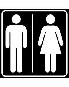 WC Toiletten Kennzeichnung | Herren · Damen · schwarz