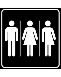 WC Toiletten Kennzeichnung | Herren · Damen · Transgender · schwarz