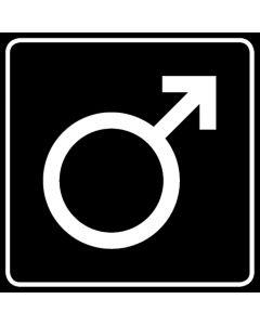 WC Toiletten Kennzeichnung | Symbol Mann · schwarz
