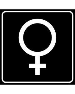 WC Toiletten Kennzeichnung | Symbol Frau · schwarz