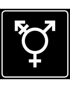 WC Toiletten Kennzeichnung | Symbol Transgender · schwarz